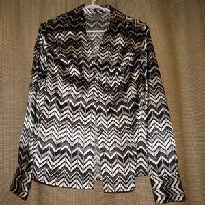 ANN TAYLOR silky blouse shirt long sleeve